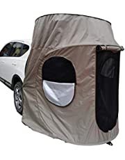 Sunshade Car Camping Tents, Portable Travel Car Shelter Tent Waterproof Moisture Resistant Car Bed with Floor and Two Windows Self-Driving Camping for Car Trunk