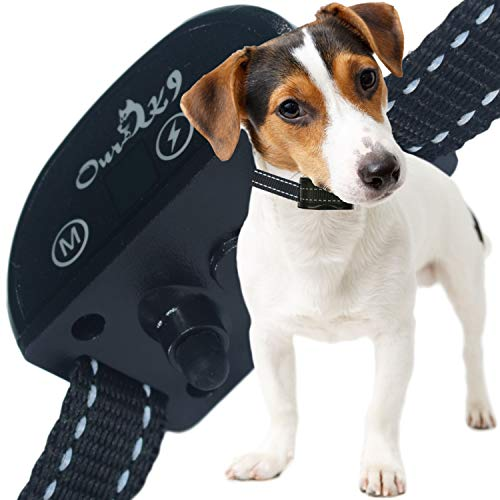 Our K9 Training Made Easy - Shock Collar - Sound (Beep) or Silent (Ultrasonic) & 7 Levels of Adjustable Shock, Pain-Free and Ultra Safe Black