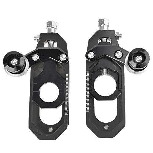 Motorcycle CNC Rear Axle Spindle Chain Adjuster Block Tensioners for Yamaha YZFR6 YZF-R6 YZFR6 2008 2009 2010 2011 2012 2013 2014 2015 after market (Black)