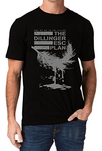 The Dillinger Escape Plan TDEP Esc One Of Us Is The Killer Feather Men's T-Shirt Medium Black