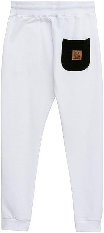 Pantalon Chandal Basic Blanco - Color - Blanco, Tallas - M: Amazon ...