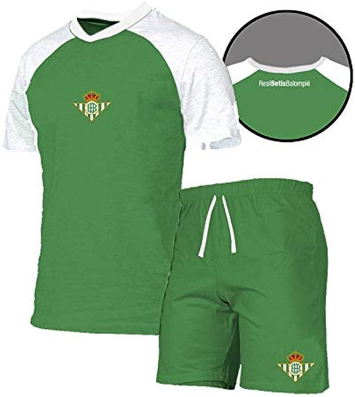 Real Betis Balompié Pijama Verano 2019 RB Conjuntos, Multicolor Verde/Blanco, Medium (Tamaño del fabricante: M) para Hombre: Amazon.es: Ropa y accesorios