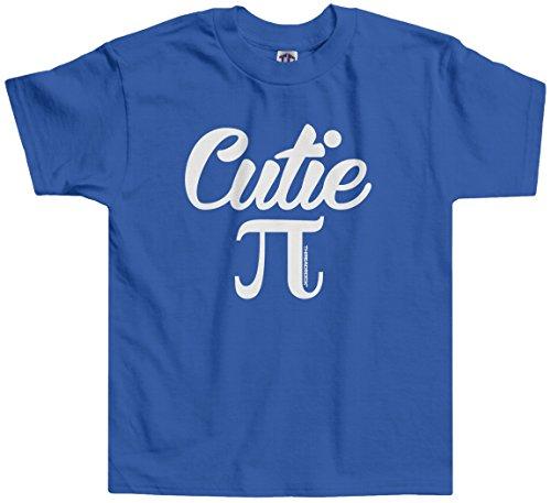 Threadrock Little Girls' Cutie Pi (Symbol) Toddler T-Shirt 2T Royal -