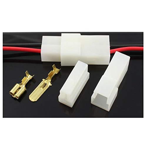 ATM ENTERPRISES Cable//Cable Multi Plug Block Conectores 2 V/ías T Forma con Terminales Crimp 5 Set de Macho//Hembra