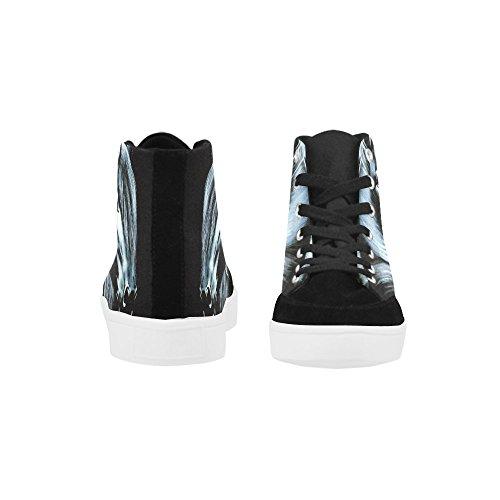 D-histoire Personnalisé Cheval Haut Haut Chaussures Pour Hommes Toile Chaussures Mode Sneaker