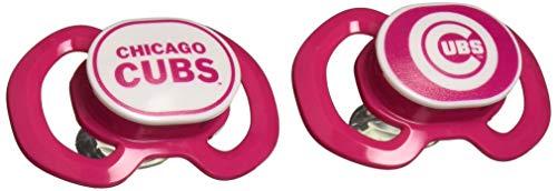 Baby Fanatic 2-Piece Gen. 3000 Pacifier, Pink Chicago Cubs