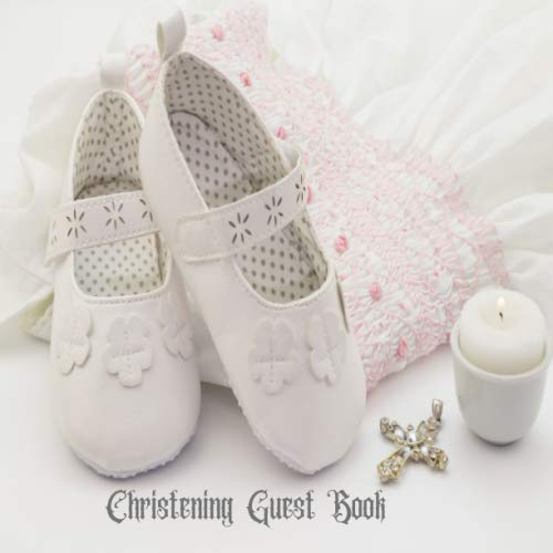 """Christening Guest Book: Keepsake Message With Gift Log, Photo Pages, For Family And Friends Guest Register To Write Sign In, For Use At Baptism, ... Comments, Boys & Girls 8.5""""x8.5"""" Paperback"""