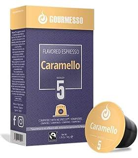 Gourmesso Soffio Caramello (Caramel) - 10 Espresso Capsules Compatible with Nespresso Machines 100%