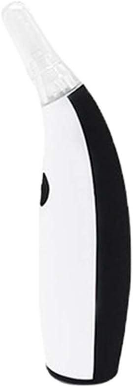 Limpiador de cera de oído eléctrico automática,Kit de eliminación de cera de oído eléctrica con luz LED(para todas las edades) Jeringas de oreja con 4 puntas en espiral de silicona