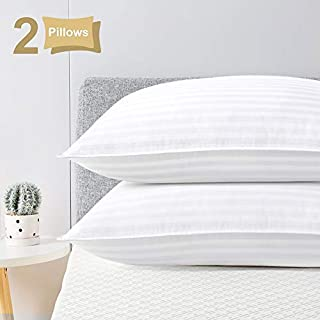 viewstar Pillows for Sleeping Hotel Pillows Queen Size Set of 2, Down Alternative Bed Pillows with Natural Cotton Cover, Hypoallergenic Cooling Pillows for Side and Back Sleepers, Soft and Breathable