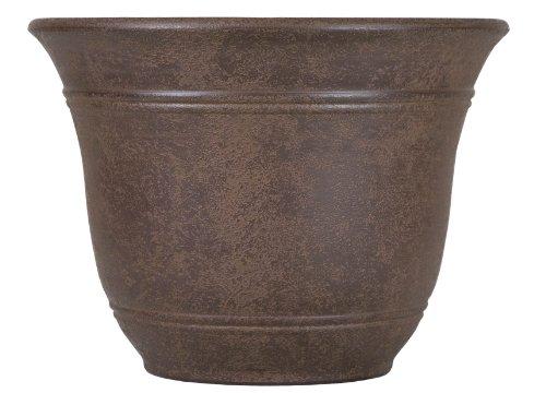 Listo 10-Inch Sierra Planter, Chestnut Brown