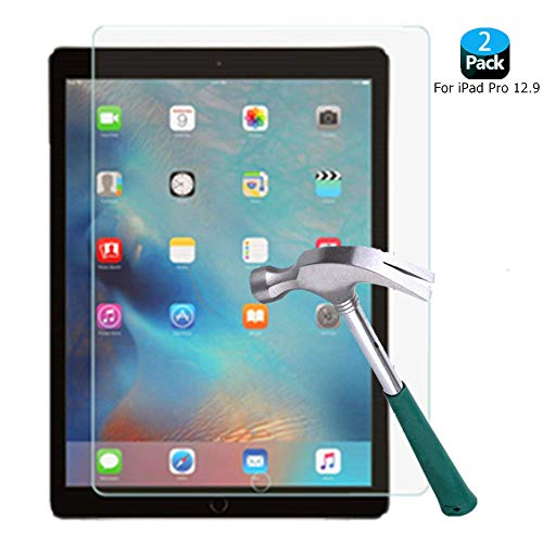 ([2-Pack] iPad Pro 12.9 Screen Protector, Folice Tempered Glass[2.5D Round Edge][99% Clarity][Shatter-Proof][Bubble Free] Screen Protector for Apple iPad Pro 12.9