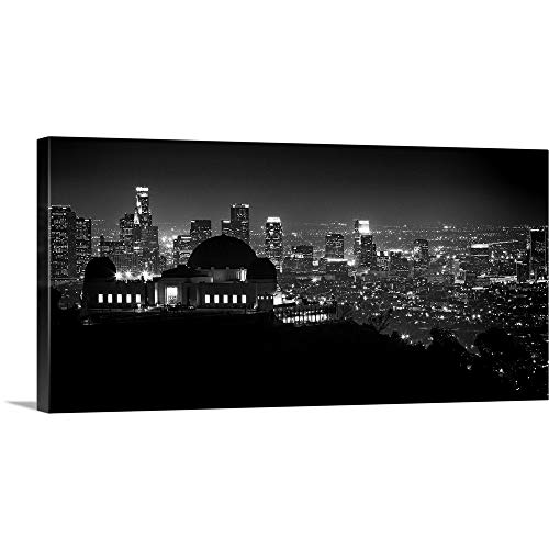 GREATBIGCANVAS Gallery-Wrapped Canvas Entitled View of Los Angeles at Night from The Griffith Park Observatory by Scott Stulberg 48