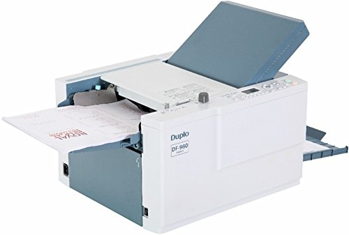 Duplo DF-980 Fully Automatic Paper Folder, Six pre-programmed standard folds, High speed folding up to 242 sheets per minute, 20 job memories for custom folds, Three-roller friction feed system
