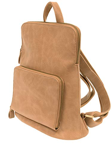 - Joy Susan Women's Julia Mini Backpack, Camel, One-Size