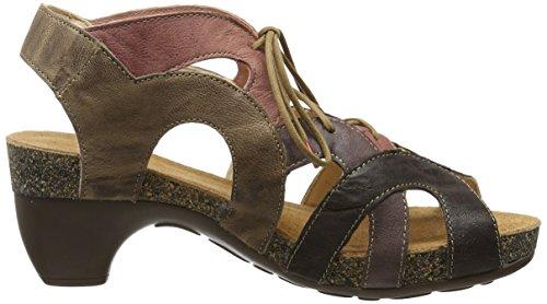Para Zapatos stone Think Marrón Mujer kombi 46 Tacón Traudi De 0qCwxCI6