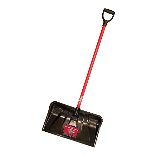 Bully Tools 22 in. Combination Snow Shovel with Fiberglass D-Grip Handle,