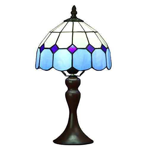 Table Glass Lamp Glass Stained (Bieye L10468 15 inch Mediterranean Tiffany Style Stained Glass Table Lamp)