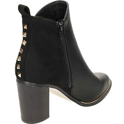 Women's Black UK Ankle 8 Heeled Boots Block Krush HFwqw