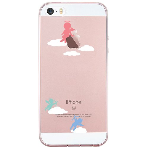 Price comparison product image iPhone SE Case, SwiftBox Cute Cartoon Case for iPhone 5 5S SE (Angel)