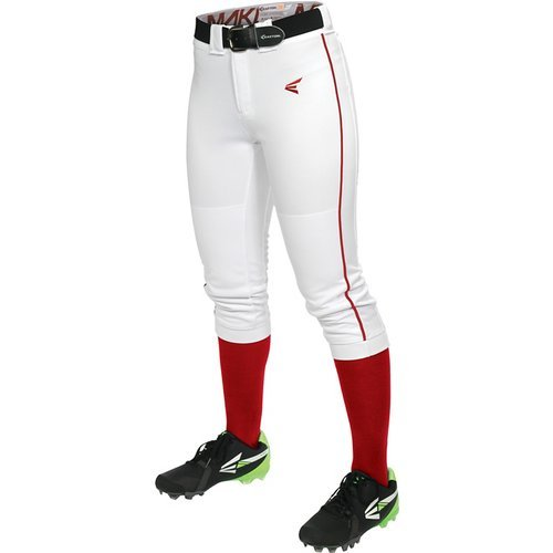 Easton Women's Mako Piped Pants, White/Red, X-Small
