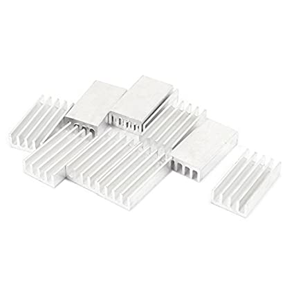 10pcs tom de prata de alumínio refrigerador Radiador dissipador de calor 20 milímetros x 11 milímetros