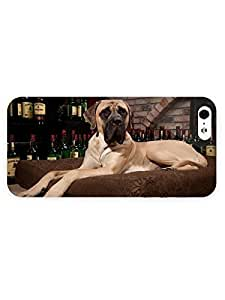 3d Full Wrap Case For Sam Sung Galaxy S5 Mini Cover Animal Great Dane Relaxing On The Pillow