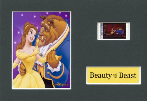 BEAUTY AND THE BEAST Disney Mounted 35mm Movie Film Cell
