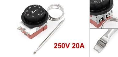 eDealMax 250V 20 Amp 120 ° C ENC Interruptor ENO Control de la temperatura del termostato: Amazon.com: Industrial & Scientific