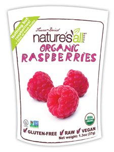 Nature's All Foods Organic Rasberries Freeze-Dried Gluten Free -- 1.3 oz Each / Pack of 2