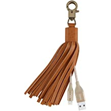 Belkin MIXIT Lightning to USB Leather Tassel with 7-Inch 2.4 Amp Lightning ChargeSync Cable for iPhone, iPad and iPod (Gold)