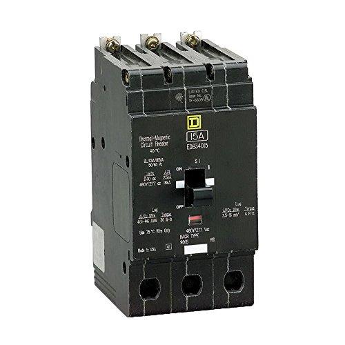 New Square D EDB34030 Circuit Breaker 3 Pole 30A 277V 480V 18kA EDB -