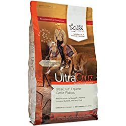 UltraCruz Equine Garlic Flakes Supplement for Horses, 10 lb (450 Day Supply)