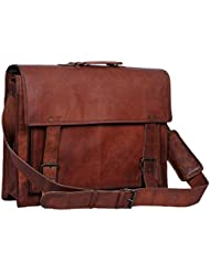 Vintage Crafts Genuine Mens Leather Messenger Laptop Briefcase Satchel Mens Bag