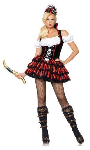 Leg Avenue Women's Shipwreck Pirate Costume, Multi, Medium]()