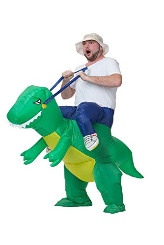 [Costhat Funny Inflatable Suit Animal Novelty Clothes Costume Halloween Party Cosplay Adult Child (Onesize, Adult Green] (Up Fancy Dress Costumes)