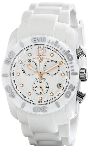 Swiss Legend Men's 10127-02-RA Commander Diamonds Analog Display Swiss Quartz White Watch