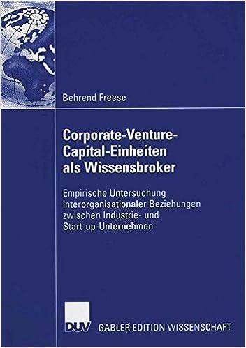 Corporate-Venture-Capital-Einheiten als Wissensbroker