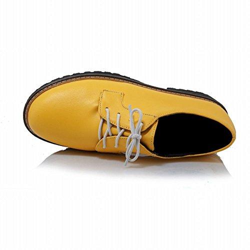 Charm Foot Womens Comfort Stringate Scarpe Oxford Con Tacco Basso Giallo