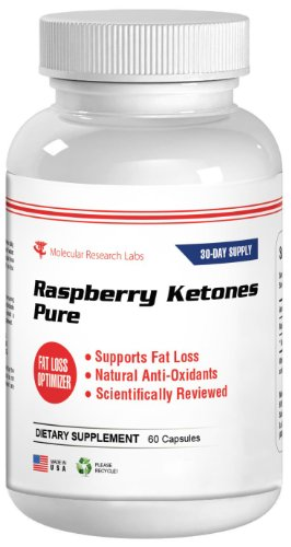 Molecular Research Labs Raspberry Ketones Pure Natural Weight Loss and Appetite Suppressant Capsules, 800 mg