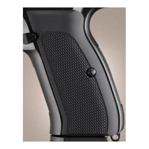 Hogue 75170 CZ-75/CZ-85 Grips, Checkered Aluminum Matte black anodized