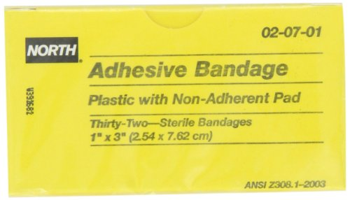 North by Honeywell 020701 Adhesive Bandage, 1-Inch x 3-In...