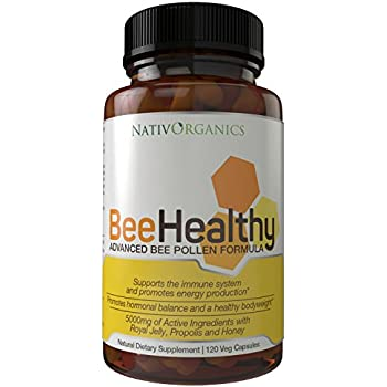 Royal Jelly And Bee Pollen Capsules With Bee Propolis And Honey - USA Produced – With Freeze Dried Royal Jelly - 120 Veg Bee Caps – BeeHealthy - The Ultimate Bee Complex