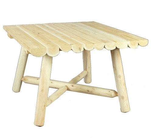 cedarlooks 1100130 log square dining table, 42-inch