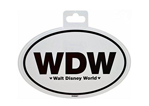 WDW Walt Disney World Oval Auto Sticker ()
