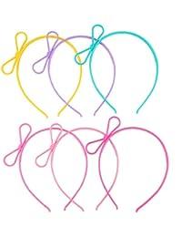 Girl's Plastic Headbands Tiara Bunny Cat Bow Hairbands...