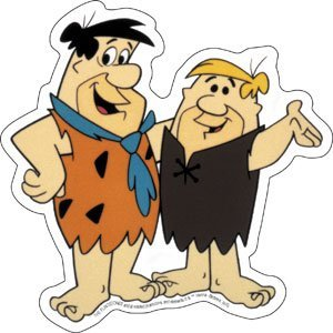 Licenses Products Hanna Barbera Flintstones Fred and Barney Sticker