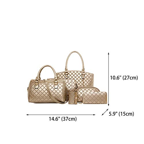 hombro Bolsos y bolsos piezas y Carteras Mujer 5 Oro mano bandolera Shoppers clutches de DEERWORD de qHXxgYwfH