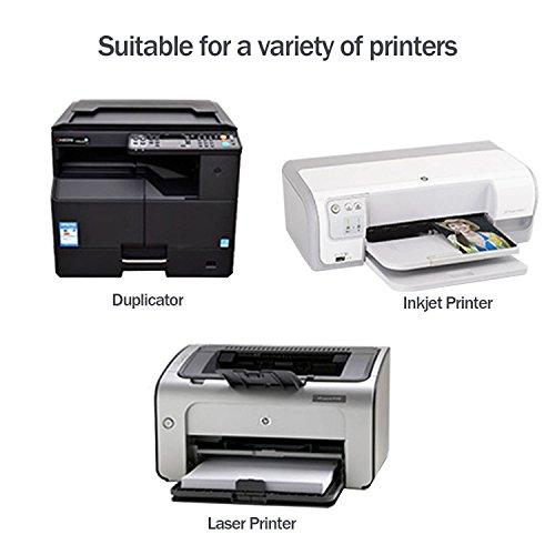 75 Pcs A4 Glossy Sticker Paper, Lasten Self Adhesive Sticker Label Paper  for Laser & Inkjet Printers