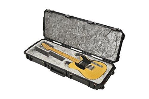 SKB Injection molded Strat/TeleFlight Case - TSA Latches, w/wheels ()